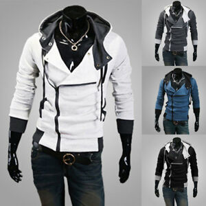 Men-039-s-Winter-Hoodies-Slim-Fit-Hooded-Sweatshirt-Outwear-Sweater-Warm-Coat-Jacket