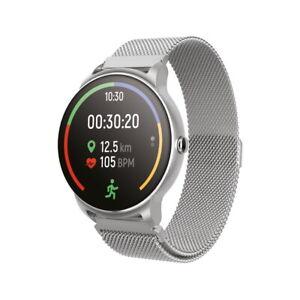 Forever SB-330 Bluetooth Smartwatch Wasserdicht Pulsmesser Schritt Schlaf Silber