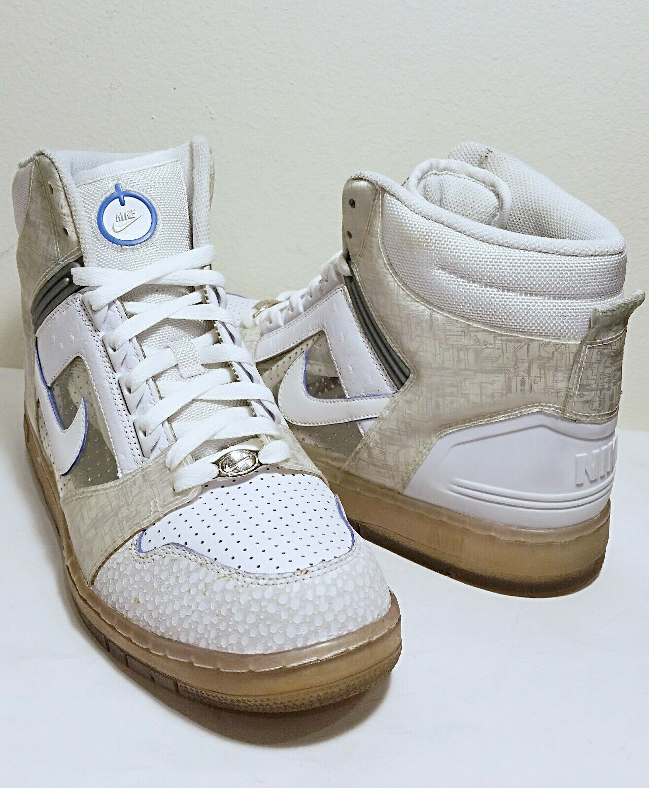 08 Nike Air Force II Nintendo Wii High Premium Basketball Shoes Size 11.5 *EUC