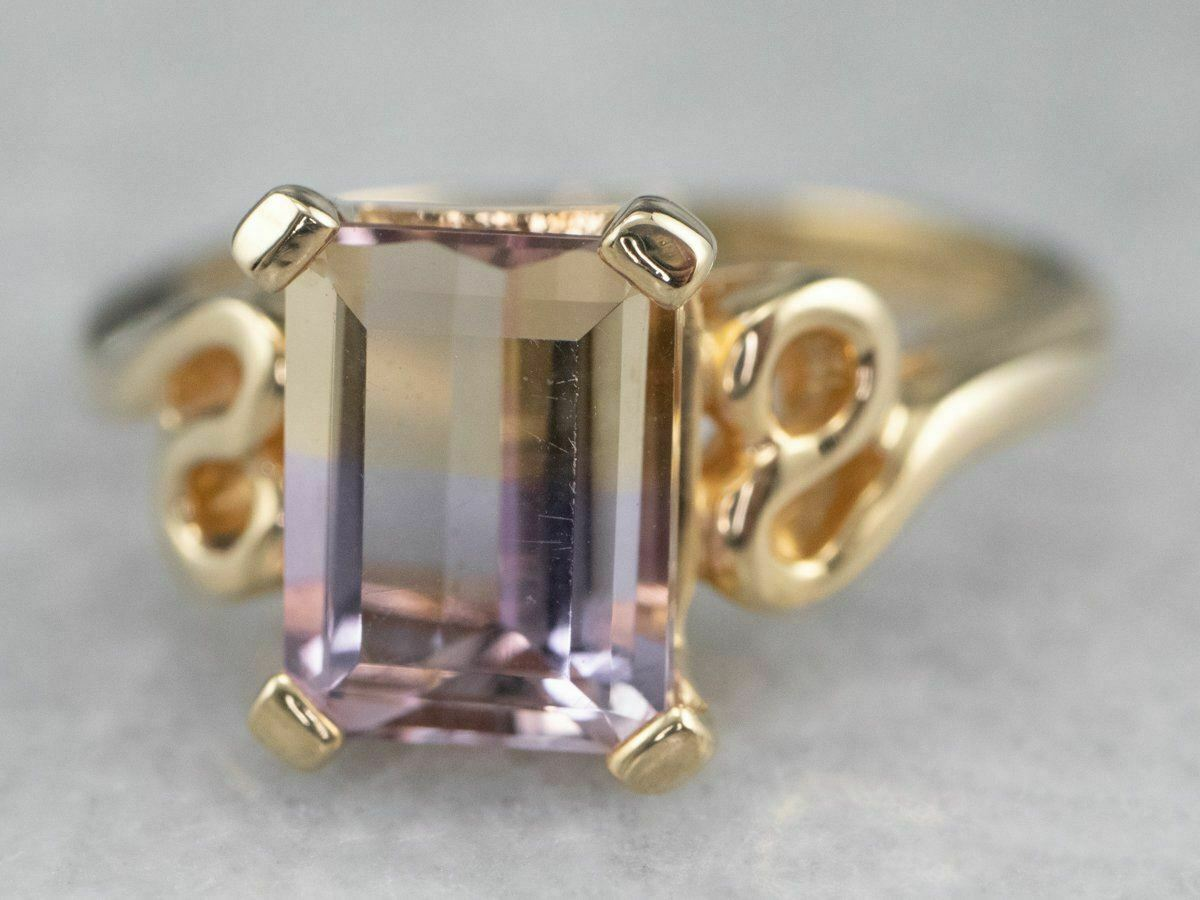 Ametrine Gold Solitaire Ring - image 3