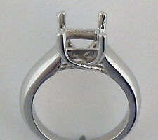 3/4CT Princess Cut  Ring Mounting 14K White Gold 5mm X 5mm  Square Cut Setting