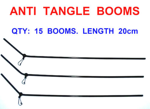 15 ANTI TANGLE 20cm LEDGER BOOMS FOR COARSE SEA FISHING BOAT ROD LINE RIGS LURES