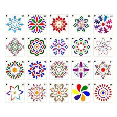 36 PCS Mandala Stencils Mandala Dot Painting Stencils Templates for Rocks Wood