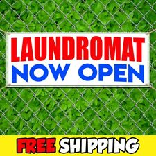 Laundromat Now Open Advertising Vinyl Banner Flag Sign Many Sizes With Grommets