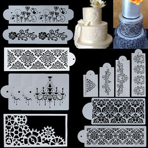 10-Types-Lace-Flower-Cake-Cookie-Fondant-Side-Baking-Stencil-Wedding-Decor-Tool
