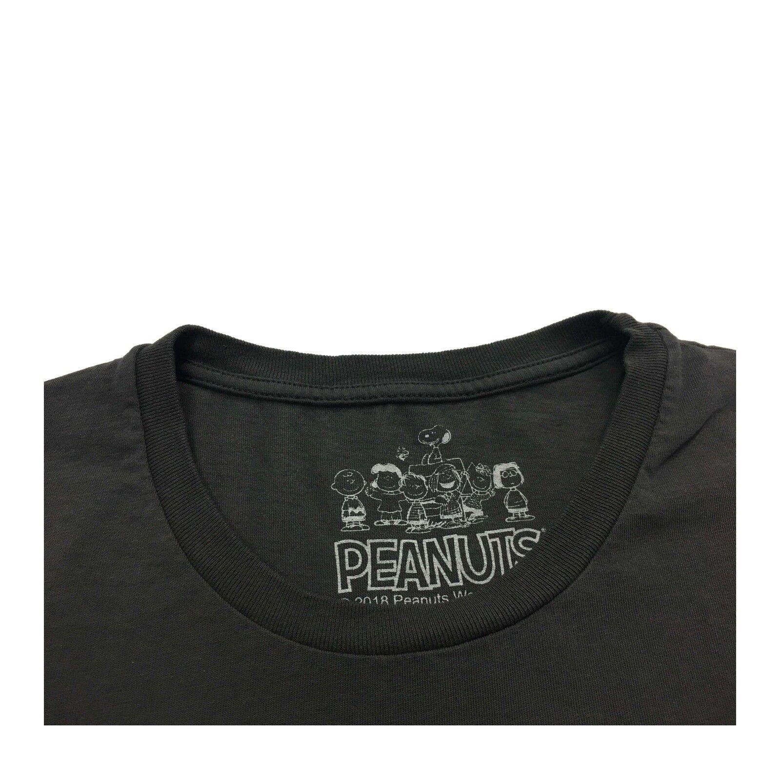 VINTAGE 55 linea PEANUTS t-shirt uomo CHARLIE Marronee faded nero nero nero 100% cotone 0e8abb
