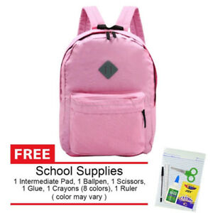 Everyday-Deal-169-Lightweight-Nylon-Waterproof-School-Backpack-Pink-SL