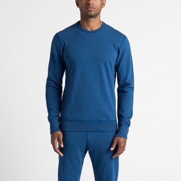 Reigning Champ Court Blau Crewneck Sweatshirt Long Sleeve Top XS Cotton