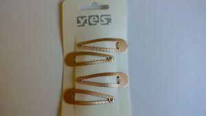 Von Yes Neu Liberal 4x Haarspange Spängelchen Mädchen / Damen 4107 Attraktive Mode Gold