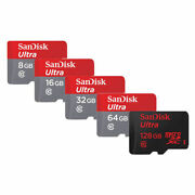 SanDisk 16GB 32GB 64GB Ultra Micro SD SDHC Card 80MB/s UHS-I Class10 w Adapter