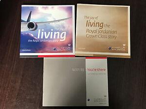 Royal Jordanian set of 3 brand new leaflet booklet - Olsztyn, Polska - Royal Jordanian set of 3 brand new leaflet booklet - Olsztyn, Polska