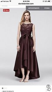c6d9a199269b7 Image is loading Formal-Hi-Low-Sequin-Lace-Dress
