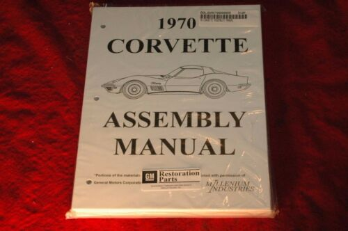 1970 CORVETTE C3 ASSEMBLY MANUAL 100/'S OF PAGES OF DETAILS /& ILLUSTRATIONS NEW!!
