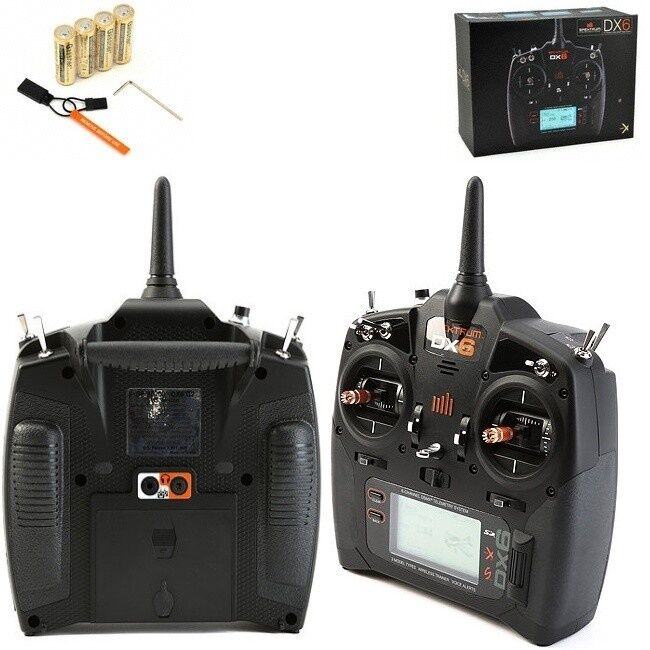 Spektrum DX6 6-Channel 6CH Dsmx Avión Transmisor   2 Radio Modo 2  SPMR6700 c08b02