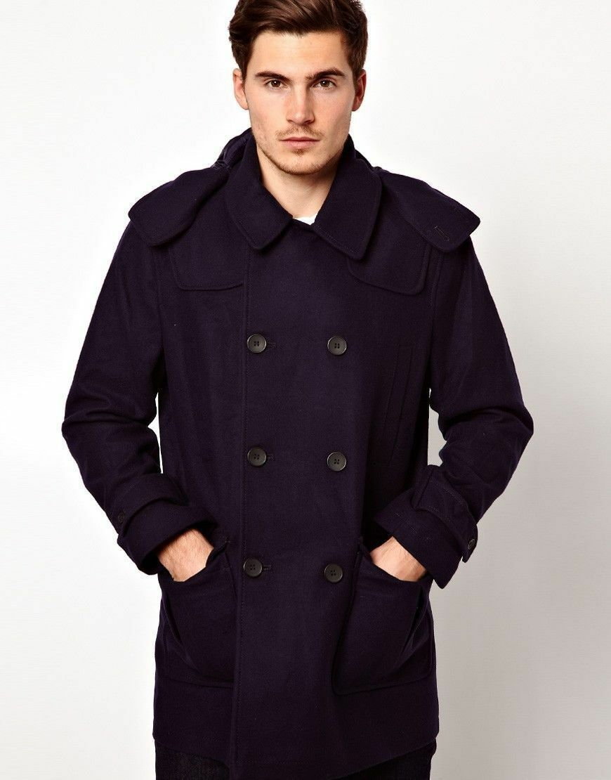 French Connection Duffle Coat Size Medium 40 Navy RRP
