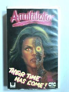 Rare-1986-ANNIHILATOR-Susan-Blakely-Ex-Rental-VHS-Tape-Horror-Sci-Fi-Movie