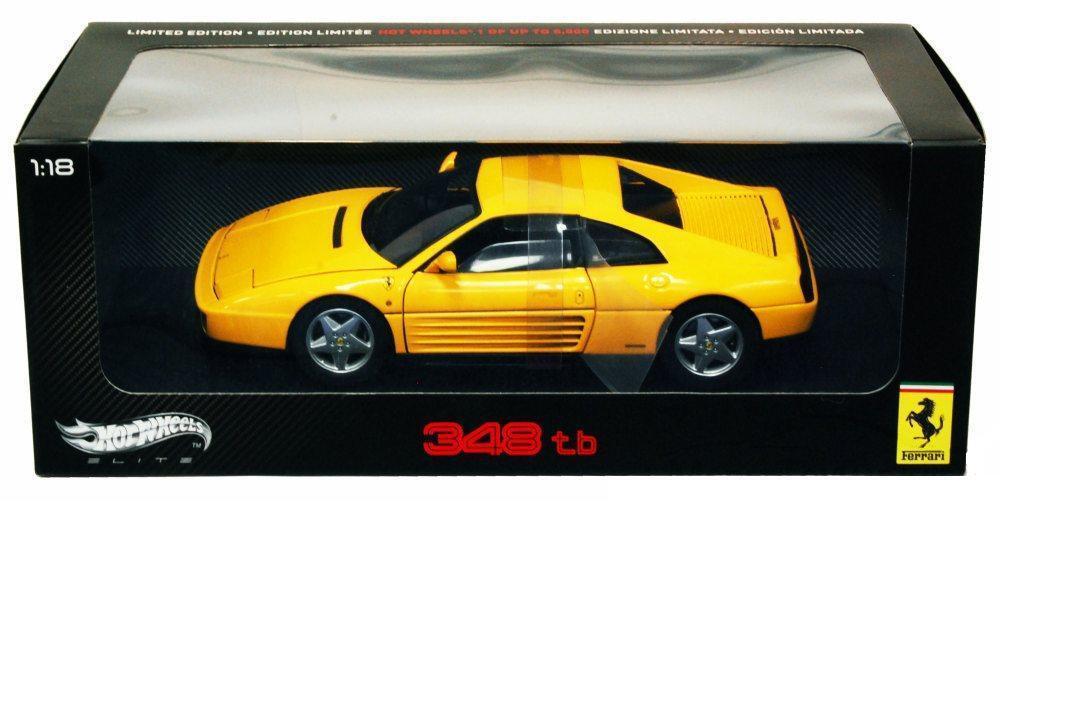 1 18 Hot Wtalons Ferrari 348 TB Elite  Edition Diecast Model voiture jaune V7437  votre satisfaction est notre cible