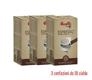 3 confezioni da 18  cialde  QUARTA CAFFE' MONODOSE GUSTO INTENSO E AROMATICO