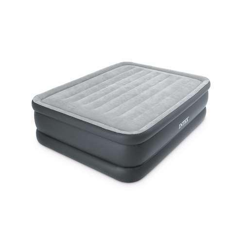 Intex Essential Rest High Rise Contoured Queen Airbed + Built-In Pump (Open Box)