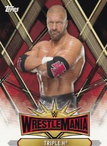 2019-Topps-Wwe-Road-To-Wrestlemania-Roster-Cartas-WM-9-Triple-H