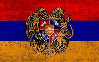 Armenia Flag Bügelbild, Markenqualität Waschbar Bis95°c H7cmxb10cm