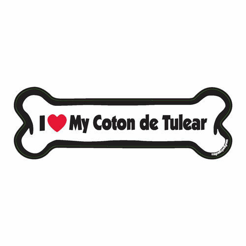 I Love My Coton de Tulear Dog Bone Car Magnet