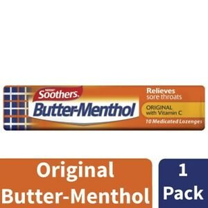 Soothers Butter-Menthol Medicated Throat Lozenges 1pk