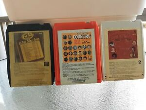 Lot-Of-3-Compilation-Country-Music-8-Track-Tapes