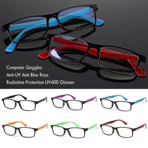 Anti-Blue Rays Strahlung Computer Brille Anti-UV UV400 Flat Spiegel Brillen neu~