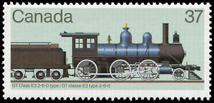 Canada Stamp #1038 - GT Class E3 2-6-0 type (1984) Canadian Locomotives 37¢