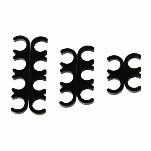 6pcs 7mm and 8mm 9728 Black Spark Plug Wires Separators Separator Divider Kit US