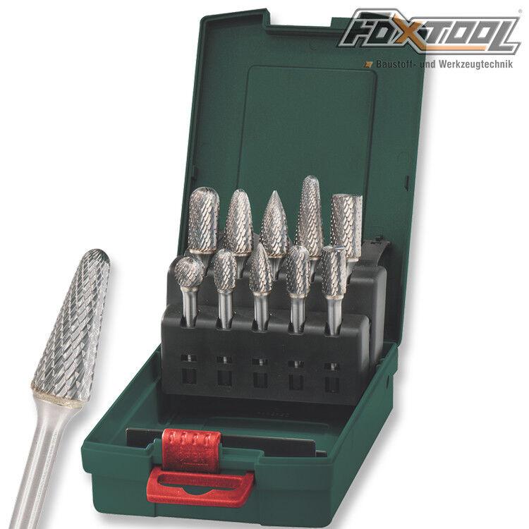 Metabo Hartmetall-Fräser Set  Schaft 6 mm HM Frässtift Schaftfräser