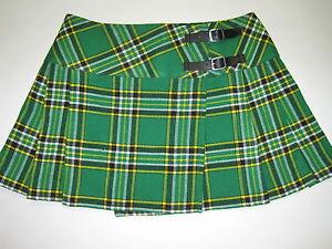 Irish-Heritage-Tartan-Scottish-Billie-MINI-Skirt-Waist-Sizes-26-40