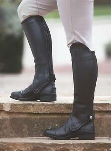 Shires-synthetic-leather-show-gaiters-adults-horse-riding-half-chaps