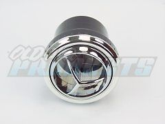 Chrome Round Tri Vane A C Heater Vent Outlet Louver For 2