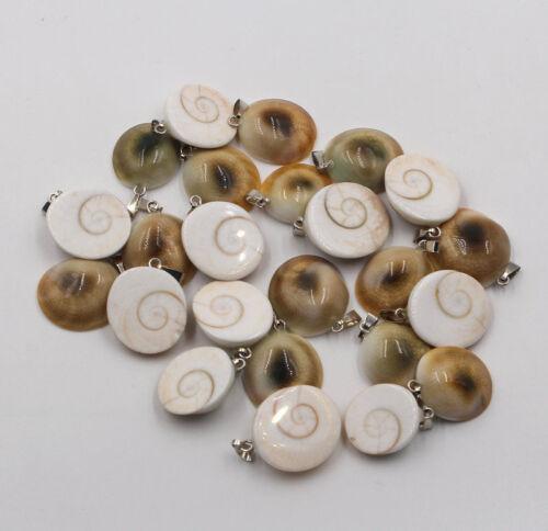 Wholesale 50pcs//lot Fashion Natural Shell pierres pendule Snail Charms Pendentifs
