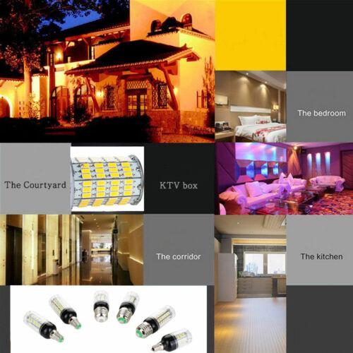 E27 E14 LED Corn Bulb Light White Home Lamp 9W 27LEDs 5730SMD 220V DC 12V 24V RT