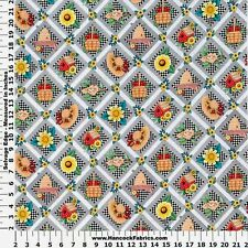 MARY ENGELBREIT DIAMOND PATCH  PRINT 100% COTTON FABRIC BY THE 1/2 YARD