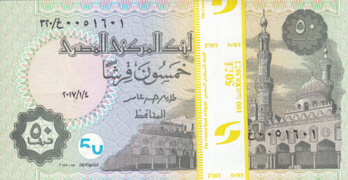 EGYPT 50 PT 2017 P-62 new SIG//T.AMER #23 ONE BUNDLE OF X100 NOTES LOT NEW