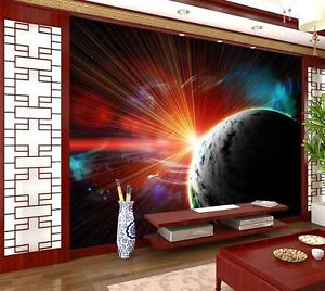 Sunlight-On-Earth-Space-Ray-Full-Wall-Mural-Photo-Wallpaper-Print-Home-3D-Decal