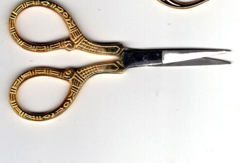 "Embroidery Scissors 4/"" Decorative Gold Handles FREE P/&P UK"