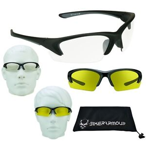 38ebcc7276 Z87 YELLOW CLEAR Lens Glasses Night Driving Cycling Shooting Safety ...