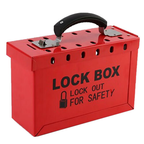 Safety LOTO Box for Lockout Tagout Lock Devices up to 12 Padlocks// Workers