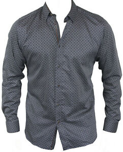 New-Ted-Baker-Mens-Casual-Shirt-in-Black-Colour-Size-4