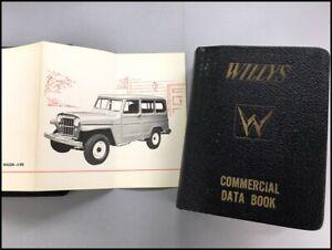 1954-Willys-Jeep-Dealer-Fact-Data-Book-Brochure-Catalog-CJ-3B-Truck-Wagon-4wd