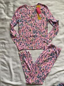 NWT-Lilly-Pulitzer-Girls-Sammy-Pajamas-Snug-Fit-Pink-Girls-Night-Out-Size-14