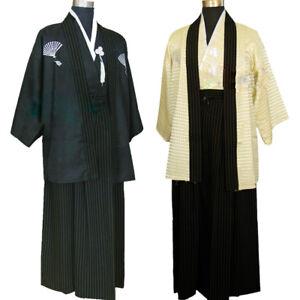 Japanese-Traditional-Men-Samurai-Bushi-Mononofu-Kimono-Cosplay-Costume