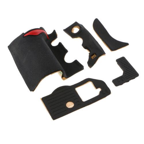 hinten // 5 Stück Grip Gummi Einheit Reparatur Teil für Nikon D700 vorne