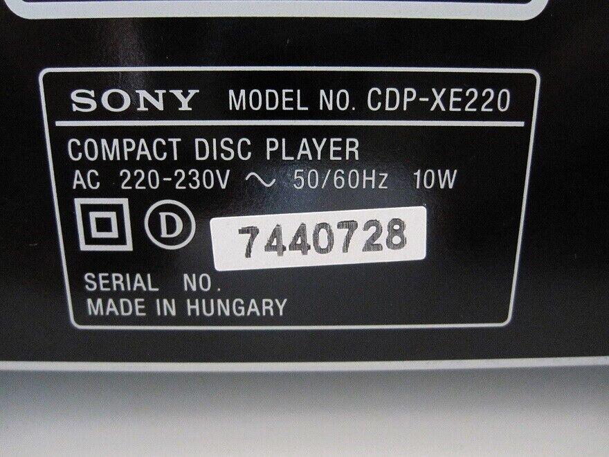 CD afspiller, Sony, CDP-XE220