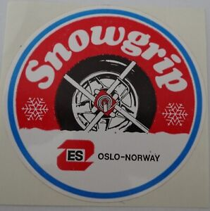 Promotional Stickers Snowgrip It Oslo Norway Schneekrallen 70er Classic Car